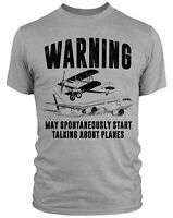 May Spontaneously Start Talking About Planes T Shirt For Men Funny Spotting Aero