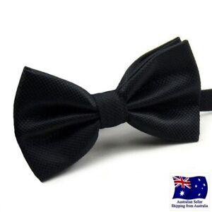 Premium Formal Wedding Party Black Men Bow Tie Bowtie