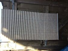 2 X UNBRANDED CONCERTINA PLEATED BEIGE MOTTLED  POLYESTER WINDOW BLIND/SHADE