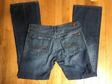 Women's 7 Seven For All Mankind Mid Rise Bootcut Flare Jeans Size 30 100% Cotton