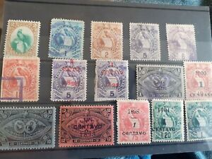 Guatemala stamps from 1891 on nice early lot clean