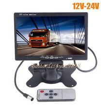 """7"""" TFT LCD Color 2CH Monitor de visión trasera para DVD y cámara de marcha atrás"""