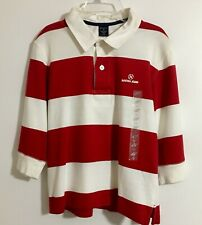 Nautica Jeans Co Shirt Red/White Stripe Size M