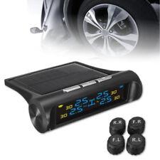 Solar LCD Auto Kabellos TPMS Reifen Druck Überwachungssystem&Außen Sensor Sicher