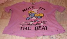 JUNK FOOD GIRLS SIZE XS (5) 3/4 SLEEVE TOP WITH SMURFETTE BRAND NEW WITH TAGS