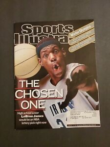 2002 Lebron James Sports Illustrated First Cover High School Los Angeles Lakers