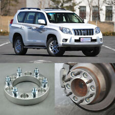 "4pcs 1.2"" Wheel Spacers Adapters 6 Lug 6x139.7-12x1.5 Studs For Toyota Prado"