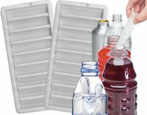 2 x Bottle Ice Stick Tray Ice Cubes For Water Juice Soda Sport Bottle Plastic