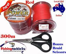 Red PE Dyneema Thin 20 lb 8 Strand 500 M Power Braid Fishing Line Tackle Bonus