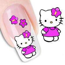 Nail Art Stickers Water Decals Transfers Hello Kitty XF1349)