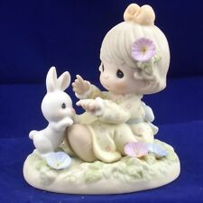 """Precious Moments September """"Morning Glory: Easily Contented"""" Figurine, Retired"""