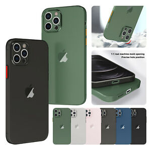 For iPhone 13 Pro Max 12 11 XS XR 8 7+ Case Matte Clear Soft TPU Slim Thin Cover