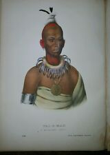 Plate No 92 TAI-O-MAH 1872 Octavo History of Indian Tribes of N America