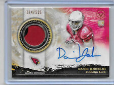 2015 TOPPS VALOR FOOTBALL DAVID JOHNSON ROOKIE AUTO 2 COLOR PATCH 364/525