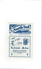Division 2 Preston North End Teams O-R Football Programmes