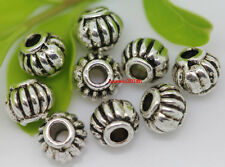 Free Shipping lot 200pcs Tibet Silver Jewelry Findings Charm Spacer Beads 5x4mm