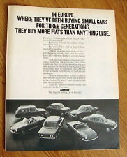 1971 Fiat Ad  In Europe Been Buying Small Cars for 3 Generations