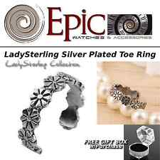 Epic Silver Flower Toe Ring