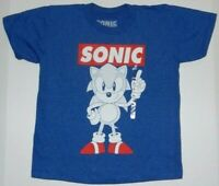 Sonic The Hedgehog Shirt Icons Sega Video Game Boys Tee New.