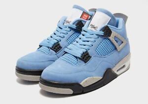 Nike Air Jordan IV 4 Retro UNC University Blue GS Shoes Size 6.5Y Wmns 8 IN HAND