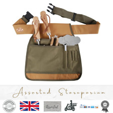 More details for gardeners tool belt adjustable garden tools apron heavy duty pocket belts green
