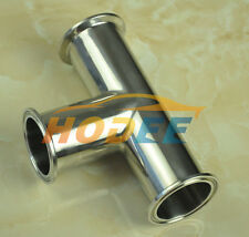 "3A standard Sanitary stainless steel tc TEE,Tri-Clamp tee, size:1.5""/38mm ,SS304"