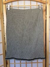 Nanette Lepore USA Made Skirt Black White Stripe Ribbed Size 2 EUC