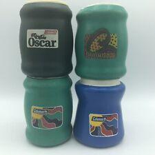 Vintage Coleman Oscar Foam Koozie Coozie Can/Bev Holder Blue Green