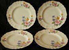 "4 x Vintage J & G Meakin Rose Mallow 9"" Dinner Plates ~ Sol [Rd.Dn. 391413]"