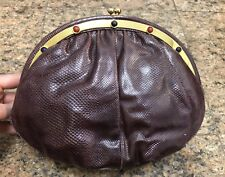 Judith Leiber Burgundy Genuine Lizard Bag