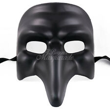 Medieval Plague Doctor Venetian Masquerade Mask for Men W7338 [Black]