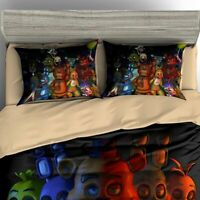 3D Five Nights At Freddy's Bedding Set 3PC Duvet Cover & Pillowcase Quilt