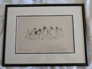 MARGUERITE KIRMSE- ALL TO THE GOOD -  ORIGINAL ETCHING - FOX TERRIER DOGS