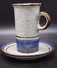 VTG OTAGIRI Stoneware MARINER Coffee Latte Mug Tea Cup & Saucer Set Cobalt Blue