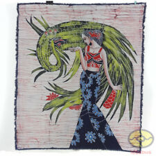 Chinese Home Wall Hanging Batik Tapestry - The Peacock Princess of Dai Minority