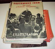 L'illustration. 40 numéros dont 13 réimpressions et 5 hors-série. 1930-1940.