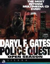Police Quest 4 Open Season MAC CD solve murder mystery cop crime adventure game!