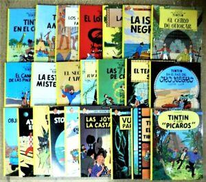 TINTIN Colección completa 23 Álbumes rústica (tapa Blanda) Hergé. Ed. Juventud