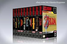 NEW custom game storage case YOU CHOOSE ANY SNES TITLE -No Game- SUPER NINTENDO