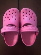 CROCS Toddler Girls Pink Shoes Size 8/9 EUC
