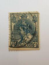 Rare Vintage Nederland 1899 12 1/2 Cent Stamp Netherlands Europe Stamps