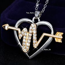 CHRISTMAS GIFTS FOR HER Girls Daughter Best Friends Gold Arrow Heart Necklace K5