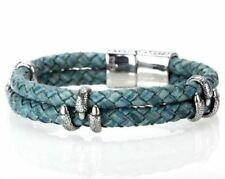 Green Leather Steel Claw Bracelet Top Quality Jewellery For Men A749
