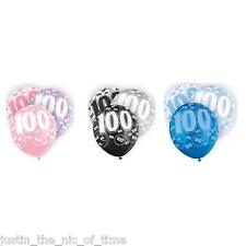 "Glitz 13th-100th Milestone Birthday Party Pearlised LATEX Balloons 12"" X6"
