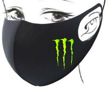 FACE MASK COVER FACEMASK F1 FORMULA 1 LEWIS HAMILTON MONSTER ENERGY DRINK GREEN