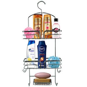 3 Tier Hanging Shower Bathroom Caddy Rack Over Door Bath Basket Toiletry Holder