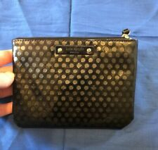 KATE SPADE Black Street Mini Pouch Patent Leather ? Textured Wallet Mint Cond.