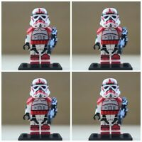 Star Wars First Order Sith Storm clone Troopers 4 Mini Figures Fit lego Toys