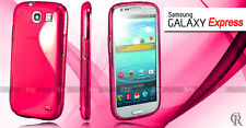PINK S CURVE GEL CASE COVER FOR SAMSUNG Galaxy Express i8730 + Screen Protector