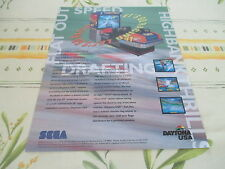 >> DAYTONA USA SEGA RACING ARCADE ORIGINAL USA HANDBILL FLYER CHIRASHI! <<